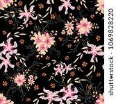little flowers. seamless... | Shutterstock .eps vector #1069828220