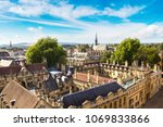panoramic aerial view of oxford ... | Shutterstock . vector #1069833866