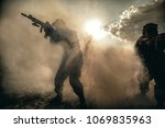 united states marines in action.... | Shutterstock . vector #1069835963