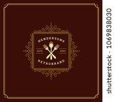 restaurant logo template vector ... | Shutterstock .eps vector #1069838030