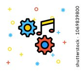 preference melody music  | Shutterstock .eps vector #1069839800