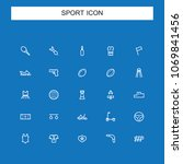 sports and recreation icon | Shutterstock .eps vector #1069841456