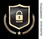 security shield illustration... | Shutterstock .eps vector #1069855916