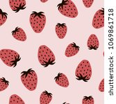 berry seamless pattern with... | Shutterstock .eps vector #1069861718