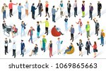 isometric 3d flat design vector ... | Shutterstock .eps vector #1069865663