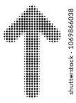 arrow direction halftone vector ... | Shutterstock .eps vector #1069866038