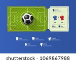 football or soccer ticket... | Shutterstock .eps vector #1069867988