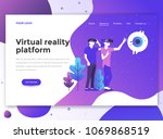 landing page template of... | Shutterstock .eps vector #1069868519