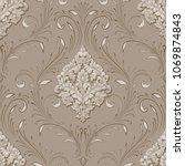 vector volumetric damask... | Shutterstock .eps vector #1069874843
