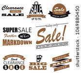 set of sale icon symbol and... | Shutterstock .eps vector #1069880450