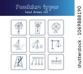 pendulum type hand drawn doodle ... | Shutterstock .eps vector #1069888190