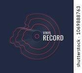 poster of the vinyl record....   Shutterstock .eps vector #1069888763