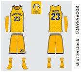 yellow basketball jersey or... | Shutterstock .eps vector #1069896008