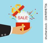 discount and shopping concept. ...   Shutterstock .eps vector #1069898756