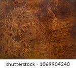 dark brown mahogany burl  | Shutterstock . vector #1069904240