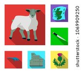 country scotland flat icons in... | Shutterstock .eps vector #1069909250