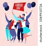 international labor day on may  ... | Shutterstock .eps vector #1069910726