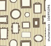 brown frames on the striped... | Shutterstock .eps vector #106991096