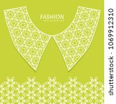 vector fashion background.... | Shutterstock .eps vector #1069912310