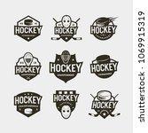 set of hockey logos. sport... | Shutterstock .eps vector #1069915319