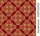 vintage damask seamless pattern.... | Shutterstock . vector #1069916543