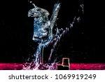 still life splash water  | Shutterstock . vector #1069919249