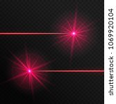 colorful red laser rays on a... | Shutterstock .eps vector #1069920104