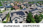 top solar panel rooftop one the ... | Shutterstock . vector #1069925930