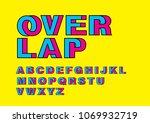 overlap intertwine typography...   Shutterstock .eps vector #1069932719