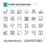outline icons about home... | Shutterstock .eps vector #1069935383