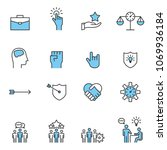 people icon  line work group... | Shutterstock .eps vector #1069936184