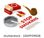 concept illustrations of stop... | Shutterstock .eps vector #1069939838