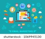 e mail marketing. email.... | Shutterstock . vector #1069945130