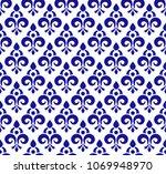 floral ornament backdrop damask ... | Shutterstock .eps vector #1069948970