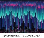 abstract glitch  futuristic... | Shutterstock .eps vector #1069956764