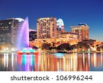 orlando downtown skyline... | Shutterstock . vector #106996244