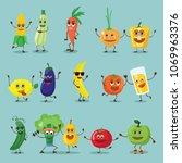 funny best friends healthy... | Shutterstock .eps vector #1069963376