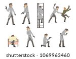 police detective and private... | Shutterstock .eps vector #1069963460