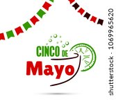 greeting card for cinco de mayo.... | Shutterstock .eps vector #1069965620