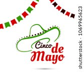 greeting card for cinco de mayo.... | Shutterstock .eps vector #1069965623