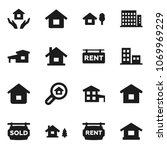 flat vector icon set   house... | Shutterstock .eps vector #1069969229