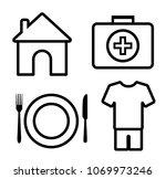 4 basic human needs outline... | Shutterstock .eps vector #1069973246