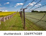 this is part of iron curtain... | Shutterstock . vector #1069974389