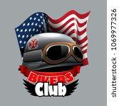 Vintage Bikers Club Logo  With...