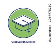 graduation related offset style ... | Shutterstock .eps vector #1069978280