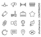 flat vector icon set   connect... | Shutterstock .eps vector #1069986050