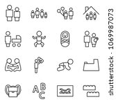 flat vector icon set   man and... | Shutterstock .eps vector #1069987073