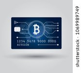 bitcoin debit card. account ... | Shutterstock .eps vector #1069989749