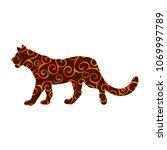 lioness wildcat predator spiral ...   Shutterstock .eps vector #1069997789