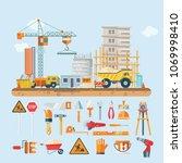 construction vector flat... | Shutterstock .eps vector #1069998410